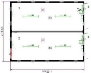 Планировка CONTAINEX 9357075-004RU
