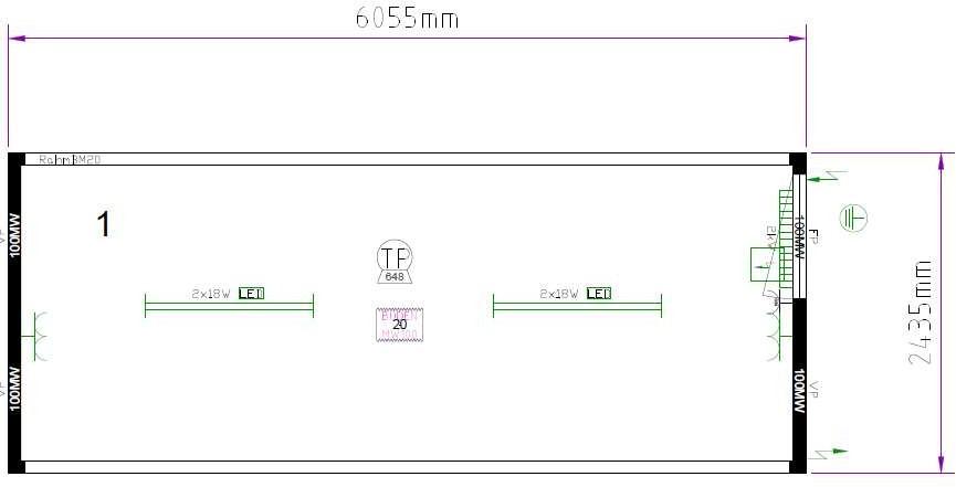 Планировка CONTAINEX T320DED326235-5010-001