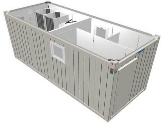 Сантехнический 20-футовый модульный блок CONTAINEX (SA20)