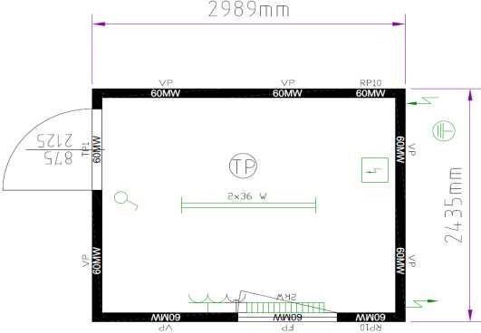 Планировка 10-футовый блок-контейнер CONTAINEX (TP10)